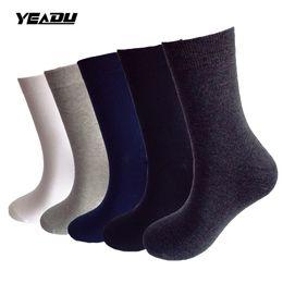 $enCountryForm.capitalKeyWord UK - YEADU 5 Pairs Lot Autumn Winter Fashion Harajuku Men's Socks Cotton Business Dress Crew Sock Plus Big Size EU 43-48