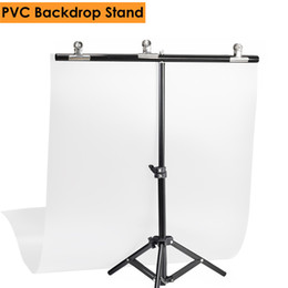 Backdrop Clamps Photography Australia - hotography PVC Background Support Stand System Metal Backgrounds for Photo Studio 68cm Backdrop & 3pcs Clamp Photography PVC Backdro...