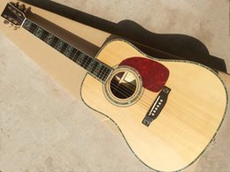 Top acousTic guiTars online shopping - Custom factory quot acoustic guitar with solid spruce top abalone inlay red tortoiseshell guard can add a pickup to provide personalized o