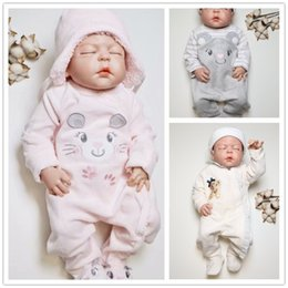 Jumpsuit Babies Australia - Kavkas Rompers Winter Newborn Baby Warm Thick Velvet Jumpsuits For Bebe Girls Toddler Long Sleeved Overalls Jumper 0-24m Q190520