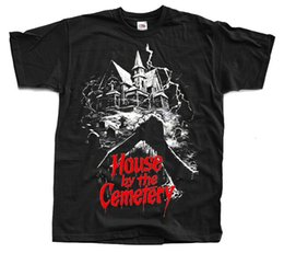 $enCountryForm.capitalKeyWord Australia - The House by the Cemetery, movie poster 1981, T-Shirt (BLACK) ALL SIZES S-5XL Men Women Unisex Fashion tshirt Free Shipping