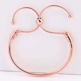 $enCountryForm.capitalKeyWord Australia - New 925 Sterling Silver Bangle Rose MOMENTS Sliding Clasp Adjust Bracelet Bangle Fit Women Bead Charm Diy Europe Jewelry