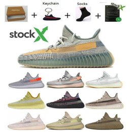 kanye west new unisex breathable shoes NZ - New Earth Desert Sage Yeshaya Cinder Linen Tail Light Flax Kanye West Running Shoes Yecheil Yeehu Tailgate Marsh Angel Black Sneaker