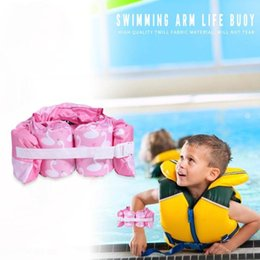 pool clothing UK - Children's Foam floating Pool Learning Safety Buoyancy Clothes for Child Swimming Arm Circle Float Ring Children's Foam floating