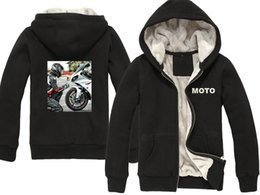 Motorcycle Jacket For Winter Australia - 2019 Winter New for MOTO Hoodies Men Casual Thick Coat Pullover Wool Liner Thick Jacket Motorcycle Sweatshirts Hoody M-XXXL