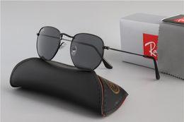 $enCountryForm.capitalKeyWord NZ - 3548 Glass Lens 2019 Wayfarers Sunglasses RAY Men Women Brand Cat Eye Sun Glasses Bands BEN Mirror Gafas de sol BANS with cases