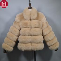 $enCountryForm.capitalKeyWord Australia - Fashion New Women Winter Thick Warm Real Genuine Fox Fur Coat Real Fox Fur Jacket High Quality Big Collar Overcoat
