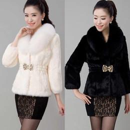 White Faux Fur Shorts Australia - Faux Fur coat female new autumn and winter Korean rabbit fur fox collar short paragraph slim coat