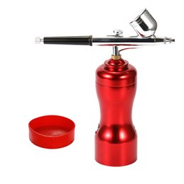 China Mini Portable Beautiful Airbrush Set Small Spray Pump Pen Set Air Compressor Kit for Art Painting Tattoo Craft Cake Spray Model cheap model portable suppliers