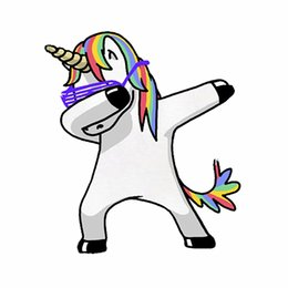 Discount car tuning stickers - Car Stickers Unicorn Colt Dab Dance Funny Creative Decals For Tail Reflective Auto Tuning Styling 14x12cm D11