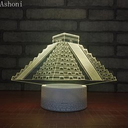 $enCountryForm.capitalKeyWord Australia - Remote 16 Colors New Pyramid Shape 3D Table Lamp LED Touch Color Changing Night Light Home Decor Kids Christmas Gifts