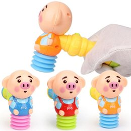 $enCountryForm.capitalKeyWord Australia - 1 Pcs Baby Beat Toy Seaweed Cute Pig Shaped Toy Luminous Small Hammer Vocal Hammer Baby Rattle Sound Toy