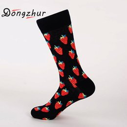 Discount socks fruit - Cotton Fruit Men Socks Cycling Sport Socks Breathable Printed Women Men Cotton Crew Basketball