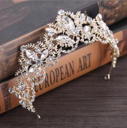 $enCountryForm.capitalKeyWord Australia - Luxury Bridal Crown Cheap but High Quality Sparkle Crystals Royal Wedding Crowns Veil Headband Hair Accessories