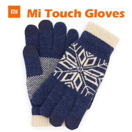 iphone 6s screens NZ - Original Xiaomi Finger Screen Touch Gloves Winter Warm Wool Gloves For iphone 6s Xiaomi Touch Screen Phone Tablet Cash Machine S1025