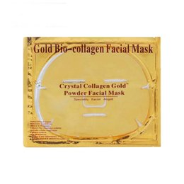 Collagen Facial Crystal Face Mask Australia - Moisturising Gold Bio collagen facial mask crystal collagen gold powder face masks & peels king of the facial mask makeup DHL Free