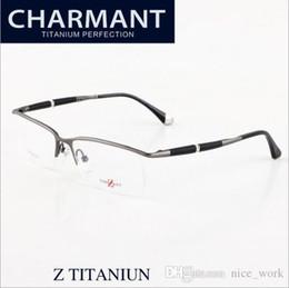 e297d442c9 Brand Glasses-2017 new brand designer eyeglasses ZT19812A charmant optical  frames Z titanium men rimless eyewear frame myopia size 56-15-140