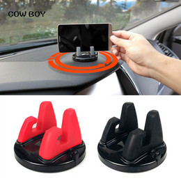 Wholesale 360 Degree Car Phone Holder Dashboard Sticking Stand Mount For Less inch Phone Desk Stand Support Bracket