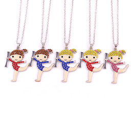 $enCountryForm.capitalKeyWord Australia - Gymnastics Girl Crystal Charm Pendan Necklace