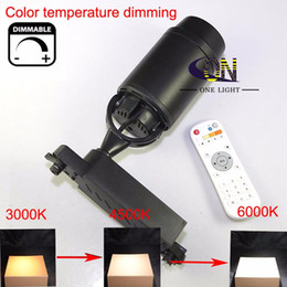 Temperature Controller Dimmer Australia - Dimmable LED Track Light 12W x 2W color temperature dimming COB Track Lamps AC100V-240V +2.4G remote controller 5 Years Warranty