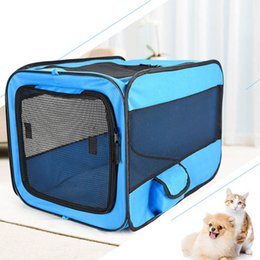 house iron box Australia - Travel Dog Car Seat Cover Folding Hammock Pet Carriers Bag Carrying For Cats Dogs Transport Pet Car Dog Transport Box