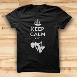 $enCountryForm.capitalKeyWord Australia - Cool T Shirts O-Neck Short Keep Calm And Pole Dance New Style Mens Tee Shirt