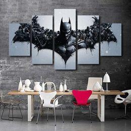 $enCountryForm.capitalKeyWord Australia - Movie characters Batman,5 Pieces Home Decor HD Printed Modern Art Painting on Canvas (Unframed Framed)