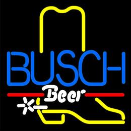 Venta al por mayor de CE RoHS Certificación Mercury Column Store Señal de apertura Luz LED Neón Señal abierta Busch Cowboy Boot Muestra de neón