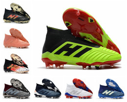 $enCountryForm.capitalKeyWord Australia - Hot Predator 18+ Predator 18.1 FG PP Paul Pogba soccer 18+x cleats Slip-On football boots mens high top soccer shoes cheap 36-45