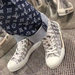 Großhandel 19SS DIOR Oblique Hommes B23 B24 KAWS kim Jones Männer Frauen-Modedesigner Triple-Freizeitschuhe High Top Sneakers 36-45