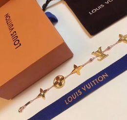 7684c50c2679 Palabras de marca de plata S925 decoran con diamante para mujer pulsera en  oro de 18 k bañado para regalo de boda joyas envío PS6279A
