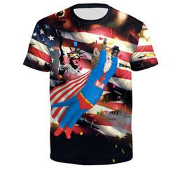 $enCountryForm.capitalKeyWord Australia - 3D American flag printed round neck pullover men's T-shirt cat Superman