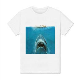 Chinese  T-shirt Homme - Requin les dents de la mer film plage surf menace - grand bleu Funny free shipping Unisex Casual top manufacturers