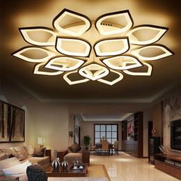 Vente en gros JESS New Acrylique Moderne LED Plafonniers pour Salon Chambre Plafond LED Maison Éclairage Plafonnier Lampe Lamparas de Techo Fixtures
