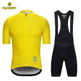 Custom Designed Clothing Australia - YKYWBIKE 2019 Cycling Jersey Bib Sets Men Short Sleeve Jersey Breathable Quick Dry Bicycle Clothing Sponge Padded Bike Clothes Custom design