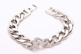 $enCountryForm.capitalKeyWord Australia - 3 Colors Fashion Titanium steel bracelets for men women Three diamond-inlaid jeans Bracelets mens gold bracelets Rough chain Accessories