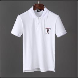 $enCountryForm.capitalKeyWord Australia - Summer luxury fashion red, white and black men's Polo T-shirt designer shirt high quality printed leisure men's round collar hot selling C
