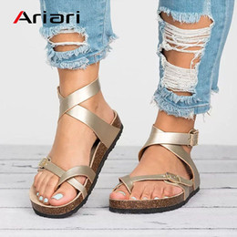 Flat Shoes Sandals For Women Australia - Factory Direct Women Sandals Casual Rome Gladiator Sandals For Summer Shoes Woman Cross Tied Flat Beach Shoes Female