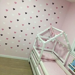 Girls Nursery Wall Stickers Australia - Heart Wall Sticker For Kids Room Baby 4cm(52dots)Girl Room Decorative Stickers Nursery Bedroom Wall Decal Stickers Home Decoration