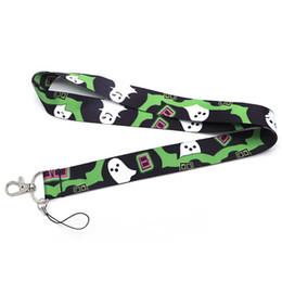 $enCountryForm.capitalKeyWord UK - 20pcs lot Ghost Terror Lanyard For Keychain ID Card Pass Mobile Phone Badge Holder Hang Rope Lariat Ribbon Lanyard Q952
