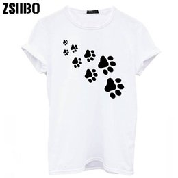 0b7ff45ec cat paws print Women tshirt Cotton Casual Funny t shirt For Lady Top Tee  Hipster gray black white Drop