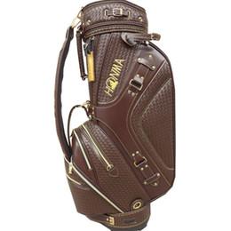 Venta al por mayor de Bolso del carro de los nuevos hombres de la PU Bolsa de golf en la bolsa de golf HONMA Golf Club bola Estándar elección 9,5 pulgadas