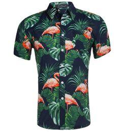 2fdedf66 100% Cotton Mens Hawaiian Shirts Male Casual Camisa Masculina Printed Beach  Shirts Aloha Short Sleeve Summer Party Shirt