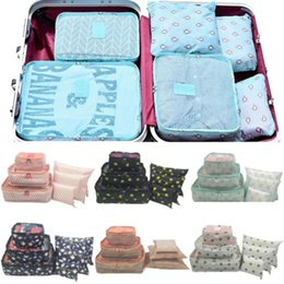 Compression Packs NZ - 6Pcs Waterproof Travel Organizer Packing Cube Compression Clothes Storage Bag Travel Insert Foldable Case Set Container Bags