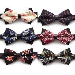 $enCountryForm.capitalKeyWord Australia - New Bowtie Flower Fashion Bow Ties for Men Necktie Adjustable Butterfly Neckwear Luxurious Gift Tie Dress Shirt Mens