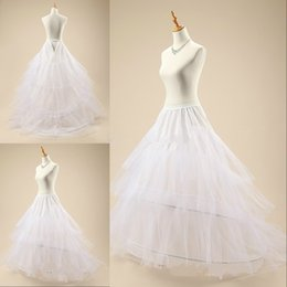 modern petticoat Australia - Lastest Modern 2 Layers 2 Hoops Ball Gown Wedding Dress Underskirt Crinoline Bridal Wedding Petticoat