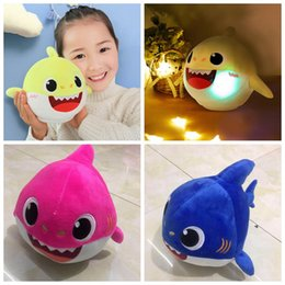 25cm Dancing Rotating Singing Shark Baby Shark Plush Toy Can Dance Rotate and Sing Toys Singing English Song Stuffed Animals CCA11806 10pcs from pokemon figures for free manufacturers