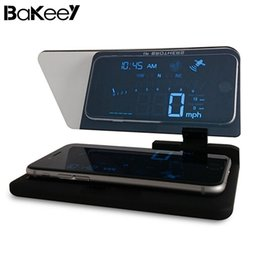 $enCountryForm.capitalKeyWord Australia - Bakeey Hud Head Up Display Car Cell Phone Gps Navigation Image Reflector Holder Mount Black Universal Display Holder Car Storage T190620