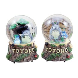 Crystal Ball Music Australia - Cartoon Chinchilla Crystal Ball Snow Globe Music Gifts For The New Year Creative Resin Crafts Souvenirs Home Decor Birthday Gift