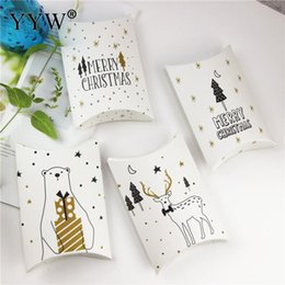 $enCountryForm.capitalKeyWord Australia - 50pcs Lot Merry Christmas Deer Xmas Tree 2019 New Year Packaging Bags Gifts Present Holders Bake Biscuit Cookies Bag Candy Pouch